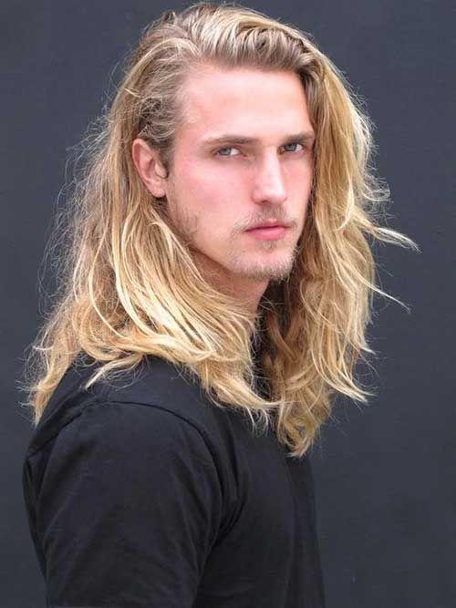 Haare blonde mann lange Kostenlose foto