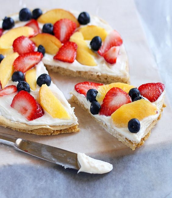 Healthy Fruit Pizza- Looks So Good For Dessert, Or Even Breakfast!