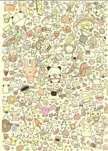 Cute Doodles To Draw Animals Background Repeat Colorfull