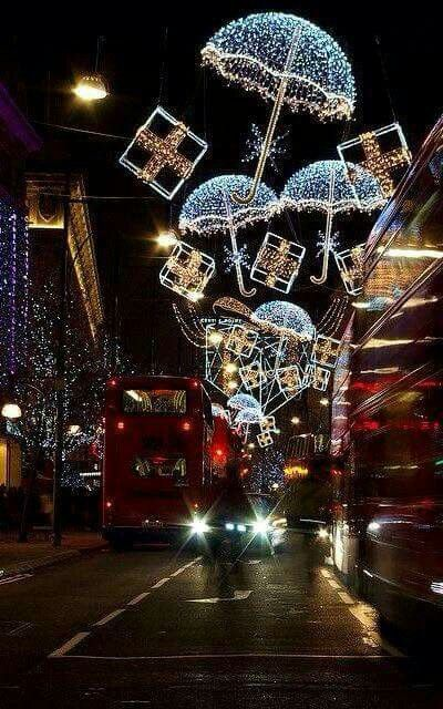 Oxford Way in London at Christmas