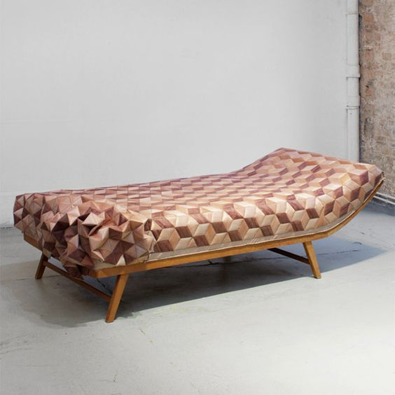 A New Tactile Design Experience: Quilted Wood Daybed By Elisa Strozyk  [Video] | U2022 F U R N I T U R E U2022 D E S I G N U2022 | Pinterest