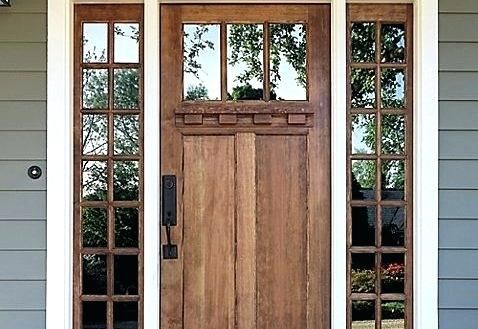 Craftsman Front Door With Tinted Glass Craftsman Front Doors House Front Porch House Designs Exterior