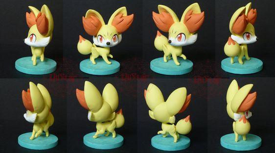 Pokemon X and Y - Fennekin OOAK by VIIStar.deviantart.com on @deviantART
