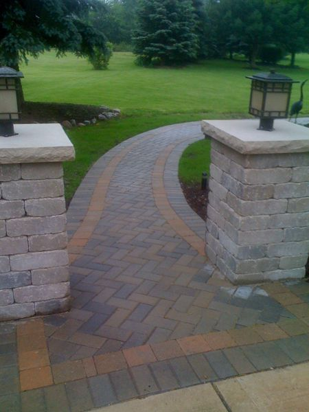 Curved Brick Paver Sidewalk Brick Natural Stone Paver 400 x 300