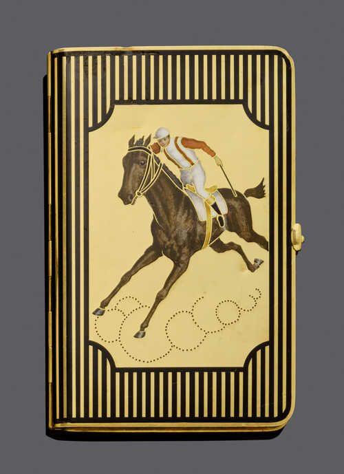 Email Gold Visitenkarten Etui Frankreich Um 1910 Gold