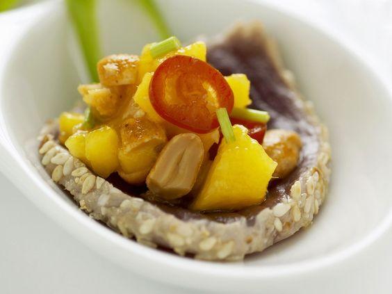 Thunfisch-Sashimi mit Mangosalat - smarter - Zeit: 25 Min. | eatsmarter.de