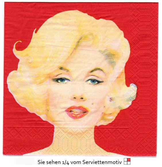 Marilyn - 1 Serviette von Serviettenhaus auf DaWanda.com