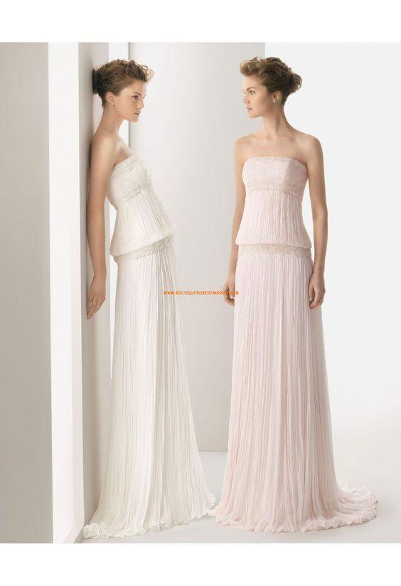 Robe de mariée originale mousseline cristal bustier