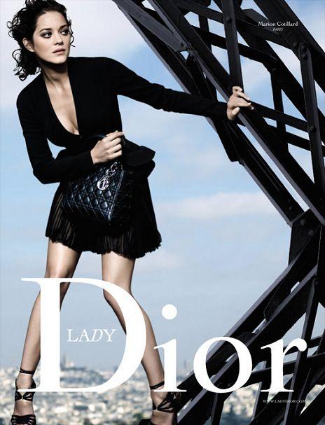 Pub Lady Dior avec Marion Cotillard.