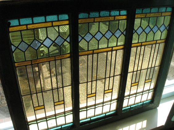 Art Deco Stained Glass Windows 13x By Professormelchior On
