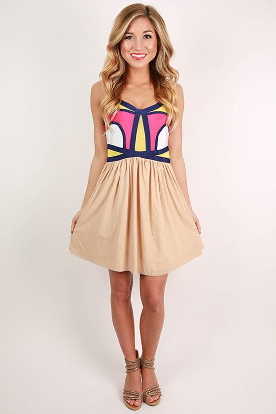 Style in the City Dress in Tan