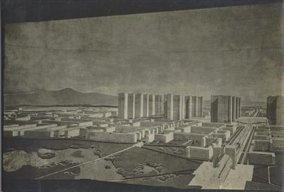 Fondation Le Corbusier - Projets - Ville contemporaine de trois millions d'habitants