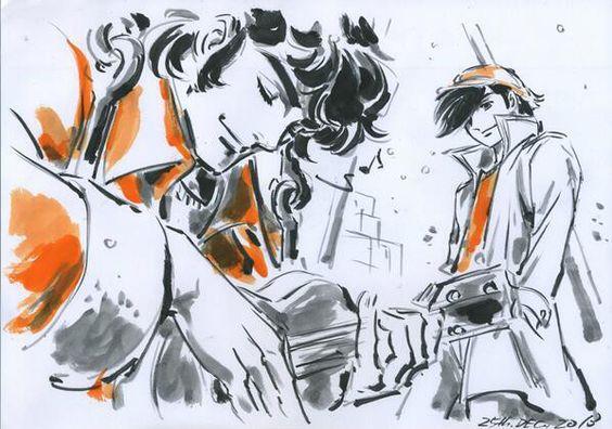 羽山淳一氏が書いた矢吹丈とカーロス・リベラのあしたのジョーの壁紙