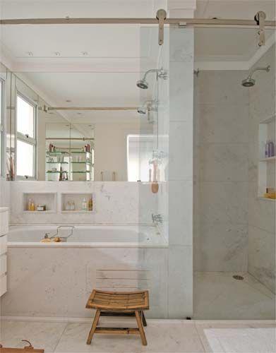 Pinterest • O catálogo mundial de ideias -> Banheiro Pequeno Com Banheira E Chuveiro Juntos