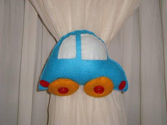 Prendedor de cortina de Fusca.  Pode ser confeccionado em outras cores.  O valor refere-se ao par. R$ 40,00
