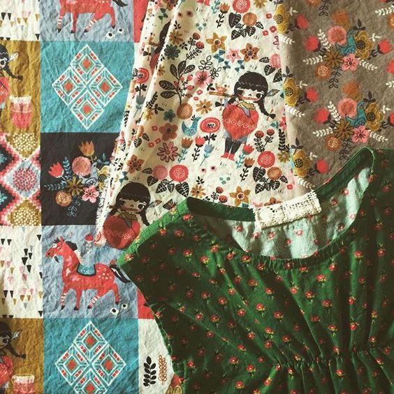 Fabrics by Birch fabrics   #wildlands #illustration #miriambos #fabric #surfacedesign #surfacepatterndesign