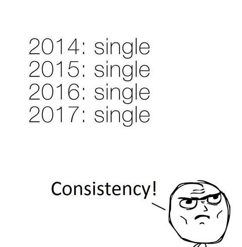 Forever single but consistency is key