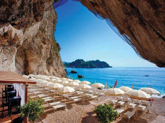 Capotaormina Private Hotel Beach In Sicily Italy An