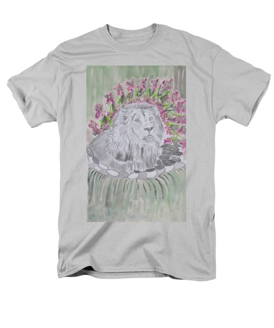 Drawing T-Shirt featuring the drawing Enjoying The Waterfalls by Nicole Burrell