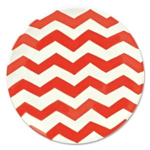Set your 4th of July table with Coton Colors Chevron 11 Dinner Plate in Red for a festive tablescape!