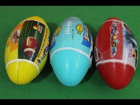 العاب المفاجآت العاب بنات و أولاد لعبة كرة رجبي كبيرة العاب عبير Eggs
