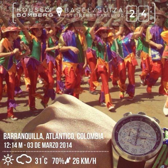 Acepta los desafíos, así podrás sentir la emoción de la victoria @Bomberg Colombia, #Barranquilla #24DaysToGo #BASELWORLD2014 #SeizeTheMoment