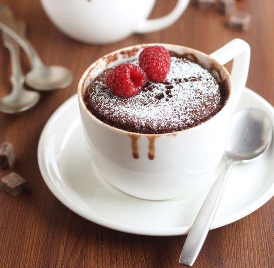 Quick Oatmeal and Nutella Mug Cake - from miraclerecipes.com!