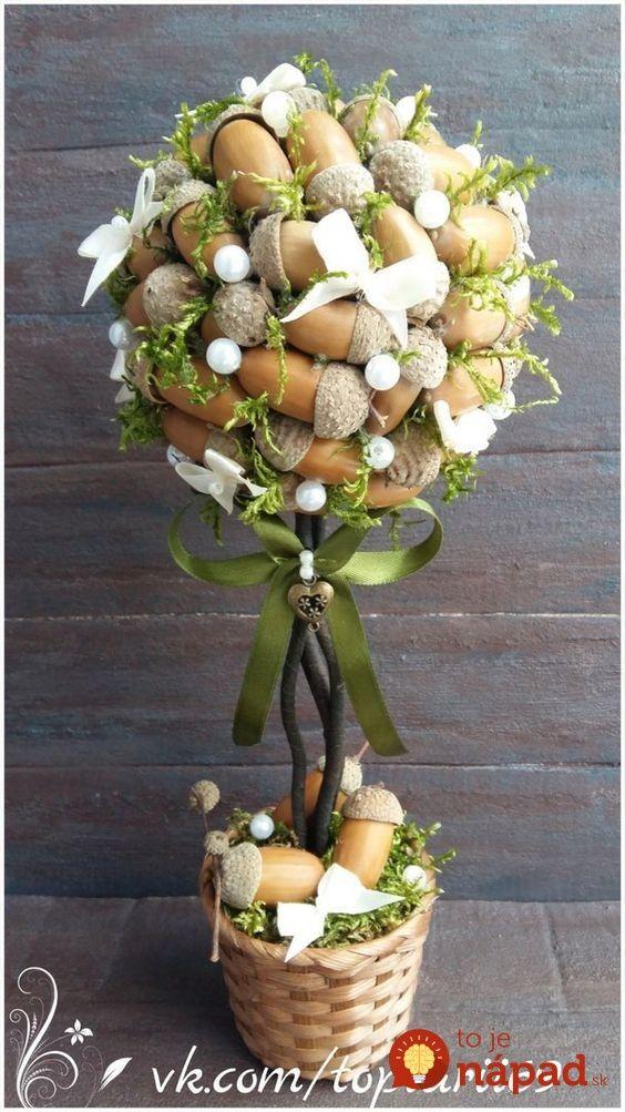 Prekrásne stromčeky pre šťastie zo šišiek a jesenných plodov: 17 krásnych inšpirácií, ktoré vás budú tešiť celé mesiace!