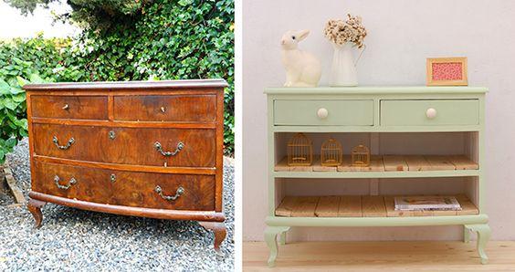 Antes y después: muebles