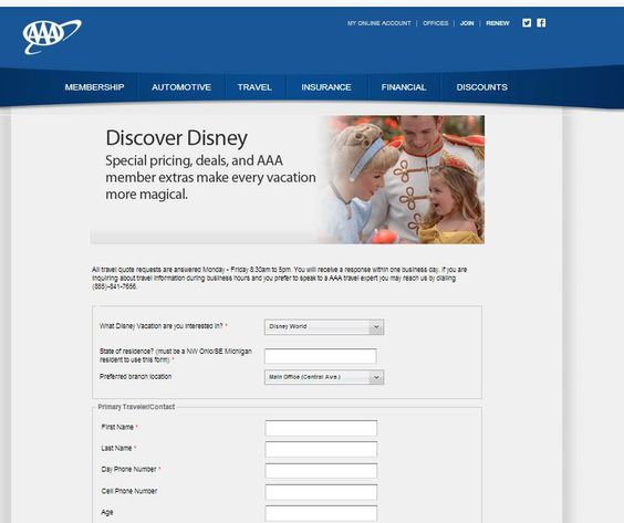 This AAA travel quote form is a great example of how the forms - membership forms templates
