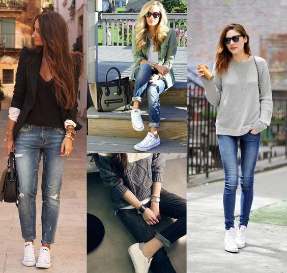 Outfit de tenis con jeans
