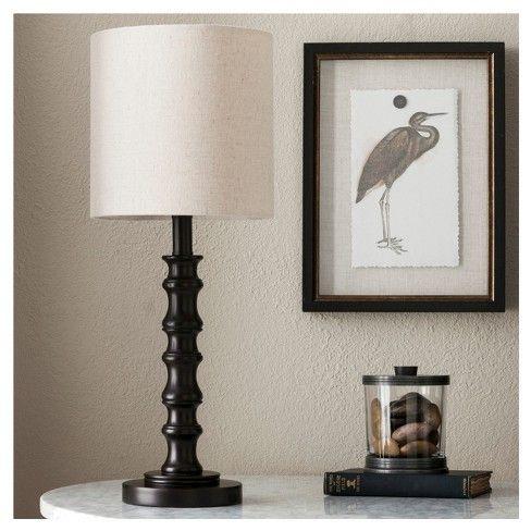 Shiloh Table Lamp Espresso Threshold Table Lamp Lamp White Lamp Shade