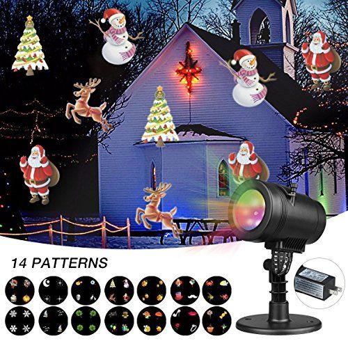 Led Projector Lights 14 Pattern Outdoor Light Projector Waterproof Decoration Lights Snowfl Christmas House Lights Outdoor Light Projector Led Projector Lights