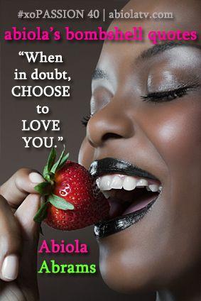 Choose love, choose you. #xopassion
