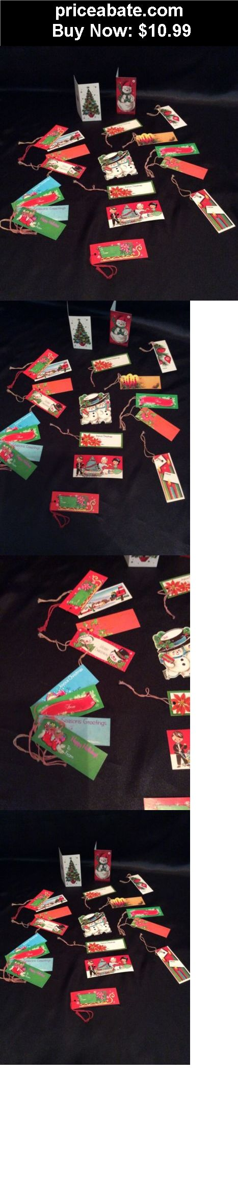 Collectibles: Vintage Christmas Gift Tags Unused Lot Of 20 Variety Of Tags Set 5 - BUY IT NOW ONLY $10.99