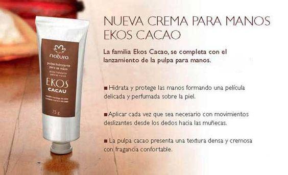 nueva crema para manos ekos cacao