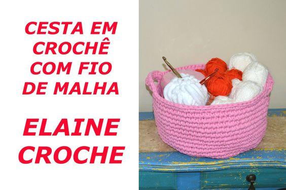 Nesta vídeo aula a Professora Elaine Tripiano ensina a confecção da Cesta em Crochê com Fio de Malha A Professora Elaine Tripiano é a pioneira no ensino do c...