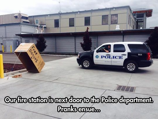 Cops v Firemen prank-off #AprilFools