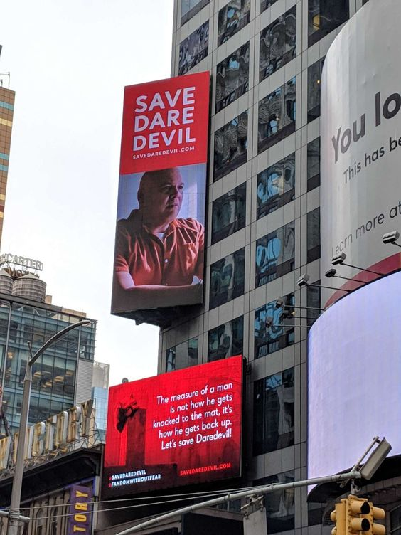 Save Daredevil Board featuring Vincent D'Onofrio