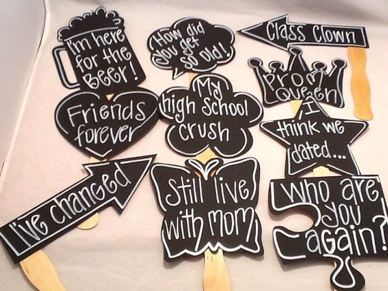 Ten Reunion Chalk Props. Chalk Props by IttyBittyWedding on Etsy