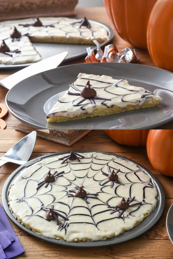 This is a spider web you want to get caught in! Serve this cookie pie by Mod Podge at your Halloween party and it'll be sure to be a favorite.: