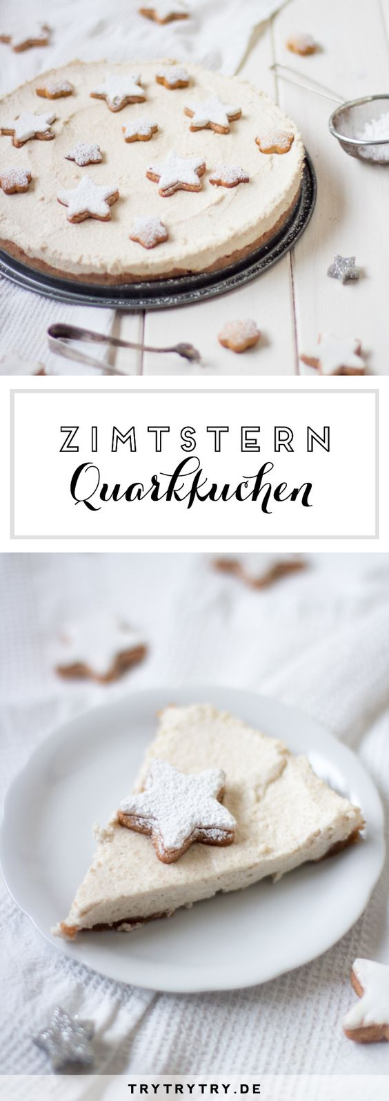 Zimtstern-Quarkkuchen {FOOD BLOGGER Adventskalender}