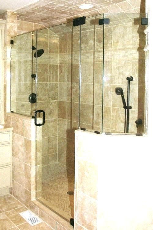 Half Wall Shower Glass Half Wall Shower Glass A Glass Act Shower