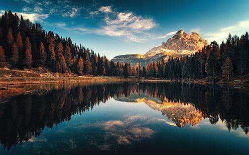 Dolomiti Italy Autumn Lago Antorno Landscape Photography Desktop Hd Wallpaper For Pc Tablet And Mobile Progettazione Di Giardini Paesaggi Paesaggio Di Montagna