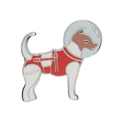 Belka Enamel Badge