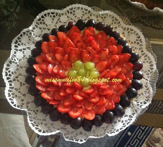 Miss Muffin: Crostata fragole e uva