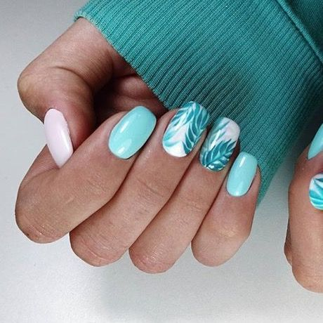 Original Manicura De Palmeras Ideal Para Este Verano Bright Nail Art Short Nails Art Nails