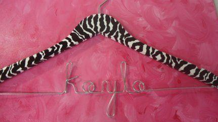 Zebra Wedding Hanger