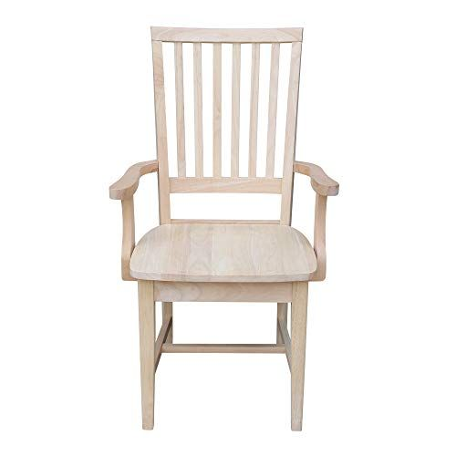 International Concepts Mission Side Chair With Arms Unfinished International Concepts Kitchen Furniture And Dinnin Dinning Room Furniture Side Chairs Chair