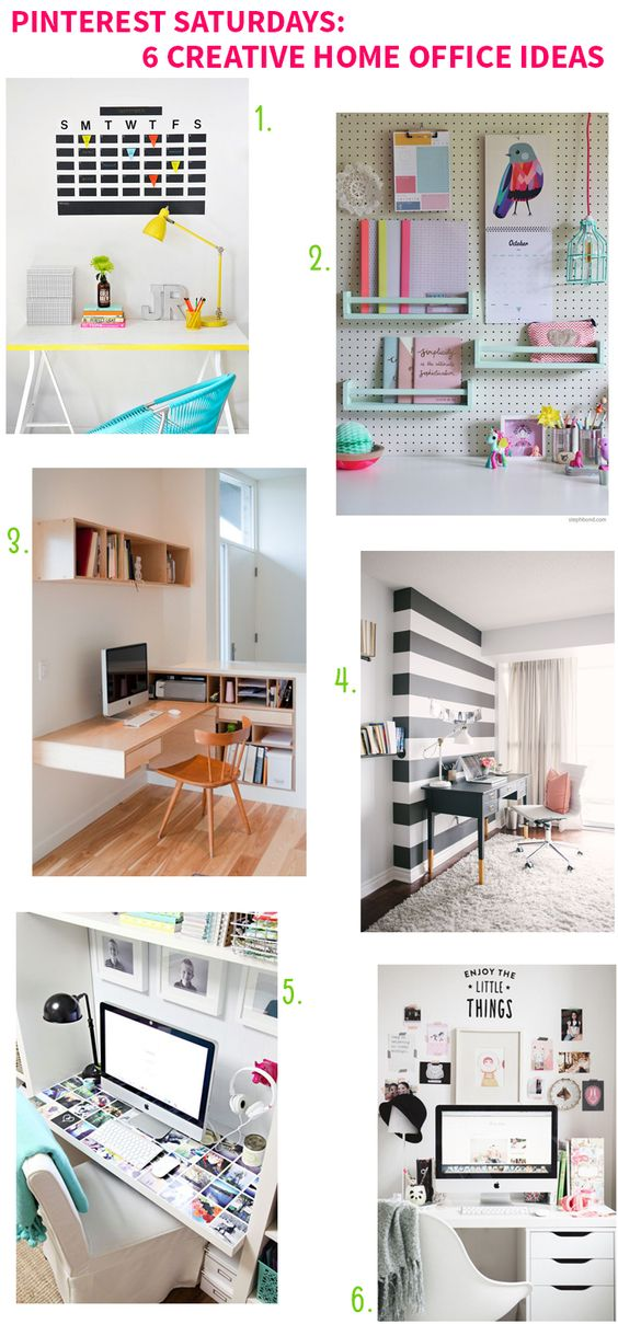 Pinterest Saturdays 6 Creative Home Office Ideas Home